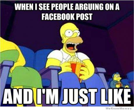 when i see people arguing on facebook post